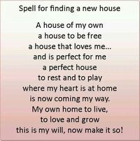 Spell for finding a new house