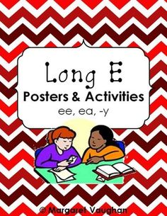 Long E Posters and Word Work Activities