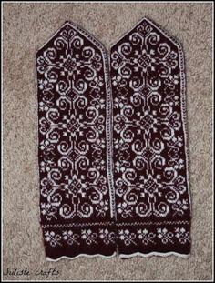 Siiliste käsitööd: Lumerooside käpikud / Snow Roses Mittens