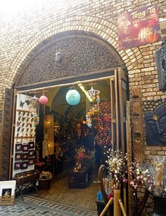 A vibrant experience and a great place to shop for hippy home accessories, antiques, bric-a-brac and also tiles.