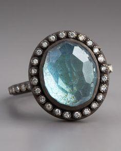 Armenta Labradorite & Pave Diamond Ring