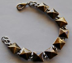 DIY Studded Chain Bracelet