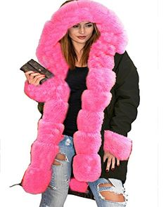 Roiii Winter Casual Thicken Fuax Fur Parka Outwear Plus Size 8-20 Jacket Coat (Large, Black Pink). Made from cotton blend fabric, faux fur lining, warm and comfortable. We guarantee 100% Brand New condition and the best materials. High Qualiy Only Sell By Roiii Trademark. If Offer by Other Sellers Will Be Difference Item. Wont Same Quality. Package include:1x Women Black Faux Fur Coat With Roiii Brand. Roiii, we have not authorized any third parties to sell our products.