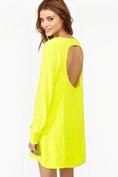Inner Circle Dress in Neon Yellow