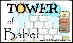 Tower of Babel File Folder Game
