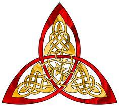 TRP - First Triquetra by Artistfire on DeviantArt Magic Symbols, Celtic Symbols, Celtic Knots, Triquetra, Pentacle, Vikings, Celtic Knot Designs, Celtic Heart, Celtic Patterns