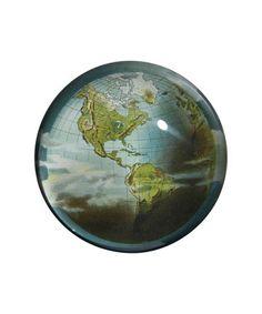 John Derian - World Crystal Dome paperweight (=)