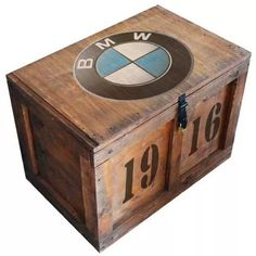 baúl madera vintage grande p/candado black rebel m-04
