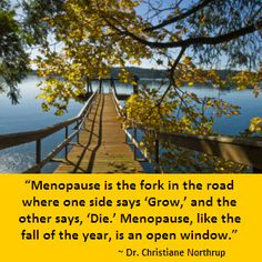"""""""Menopause, like the fall of the year, is an open window."""" ~ Dr. Christiane Northrup"""