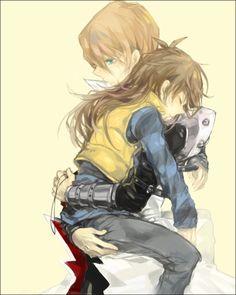 Seto being a good brother and carrying Mokuba home... Mokuba looks so much like a girl