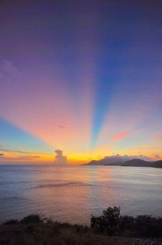Sunset at St. Kitts. On the bucket list