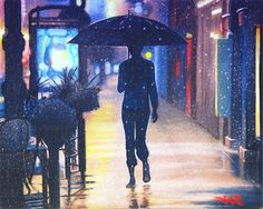 Neon Hearts of the Lonely Rain by akrathan on DeviantArt
