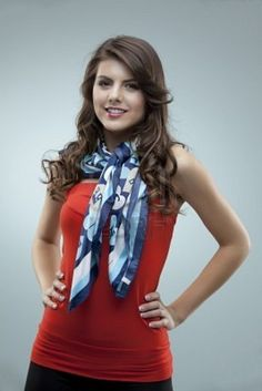 Girls plus size clothing uk tall girl fashion posing red blouse scarf