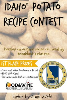 Idaho® Potato Recipe Contest | Food and Wine Conference