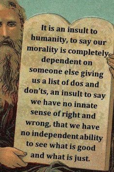 You do not need religion to have morals--very often, religion impairs your natural empathy for fellow human beings. It's past time for religions to feck off. Atheist Quotes, Humanist Quotes, Atheist Beliefs, Atheist Agnostic, Atheist Humor, Secular Humanism, Anti Religion, Morals, In This World