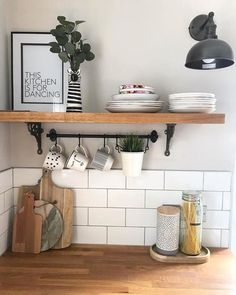 The FINTORP series puts your walls to work and frees up workspace for slicing, dicing and kneading the dough. Farmhouse Kitchen Decor, Home Decor Kitchen, Kitchen Interior, Home Interior Design, Home Kitchens, Ideas Hogar, Kitchen Tiles, Kitchen Styling, Cheap Home Decor