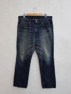 Journal Standard Denim Blue Jeans by Journal Standard Japan Size 34 Size US 34 / EU 50 Trouser Jeans, Denim Jeans, Trousers, Blue Denim, Blue Jeans, Japanese Denim, Thighs, Journal, Stuff To Buy
