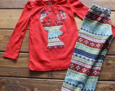 Navidad camisa camisa de fiesta de niños Santa por makmaydesigns