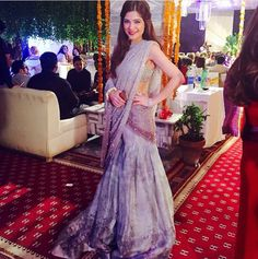 highfashionpakistan:  Pakistani actress Ayesha Omar wearing a beautiful Elan bridal jora at a wedding!