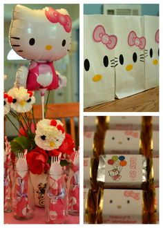Hello kitty birthday party - like the favor bags - so simple! Second Birthday Ideas, Birthday Fun, First Birthday Parties, First Birthdays, Anniversaire Hello Kitty, Hello Kitty Invitations, Hello Kitty Themes, Hello Kitty Birthday, Cat Party