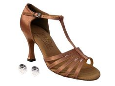 Ladies Women Ballroom Dance Shoes Very Fine EKS9273 Signature 3 Heel with Heel Protectors 7 Tan Satin >>> Click image for more details.(This is an Amazon affiliate link and I receive a commission for the sales)
