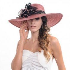 Hats & Caps, Women's Hats & Caps, Sun Hats,Women's Organza Wide Brim Hat with Flower Dark Red # # Kentucky Derby Fashion, Diy Fashion, Fashion Hats, Fashion Black, Fashion 2018, Cheap Fashion, Fashion Outfits, Wide-brim Hat, Women's Hats