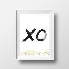 XO | Digital Download Art Print, On Trend  #cheerloveco