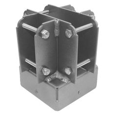 The Yardistry 4 x 4 in. Post Top Connector is the metal component used to support and connect the roof of a Yardistry project. Compatible with 4 by.