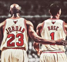The two greatest leaders for the Bulls  <3 MJ and D Rose!!!