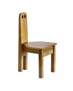 Dieter Gullert  Vintage, Germany, c. 1967  Pine  H 27.5 in, W 13.75 in, D 15.5 in (Seat:H 9.5 in)  Priced as pair