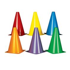 Colorful Traffic Cones - OrientalTrading.com Use cones we already have and set up obstacle course
