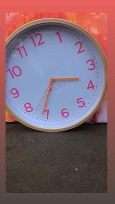 Silent clocksicle clock Pink Clocks, Clock For Kids, Bright Walls, Telling Time, Color Combos, Neon, Colours, Design, Colour Schemes