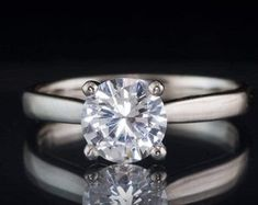 Solitaire Diamond Gold Jewelry Certified by CertifiedJewelryshop Diamond Jewelry, Gold Jewelry, Unique Jewelry, Solitaire Diamond, Gold Rings, Jewels, Engagement Rings, Trending Outfits, Handmade Gifts