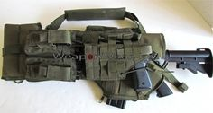 LOADED OD Green Tactical Scabbard for Ak-47 & AR-15 - Click Image to Close