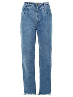 Frayed-hem wide-leg jeans   Chloé   MATCHESFASHION.COM