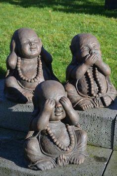 Horen Zien Zwijgen Boeddhabeelden 40 cm