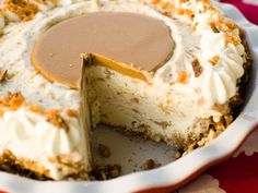 Peanut Butter Pretzel Pie: There's nothing like the combination of salty and sweet, and this pie brings the two together in perfect harmony by combining creamy sweet vanilla ice cream with peanut butter and a pretzel crumb crust.
