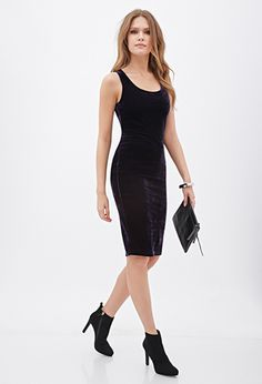 Purple Velvet Bodycon Dress | FOREVER21 - 2055878317 $20 LOVE