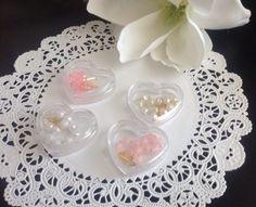 12 mini decade W Heart shape PEARL Color Rosary Baptism Communion Wedding Favors