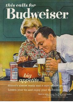 Budweiser ad - Life magazine 1963 by Tommer G, via Flickr
