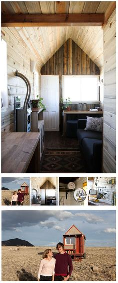 This tiny 127 sq ft house is on some of the most beautiful land in Colorado, near Denver. It's cozy, efficient, and costs nearly nothing to power, but most importantly: it's theirs. | Tiny Homes