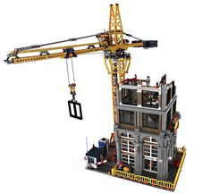 Modular Construction Site by Ryan Tandarts. Want this to become an official lego set? Support it on lego ideas. Lego Modular, Lego Design, Lego City, Legos, Lego Crane, Modele Lego, Construction Lego, Box Container, Lego Boards