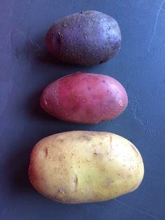Drie kleuren aardappel