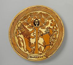 Slipware charger by Thomas Toft, ca. 1680, Staffordshire