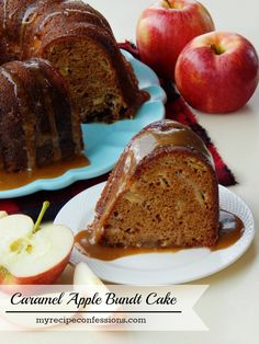Caramel Apple Bundy Cake is even better than it sounds! This is one of those recipes that you will want to hang onto. You might have other apple recipes, but this one is seriously a game changer! It is so dang moist and the caramel sauce is out of this world! Celebrate the Fall season with this cake!