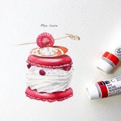 Fashion Illustration Watercolor Beautiful For 2019 Watercolor Food, Watercolor Sketch, Sweets Clipart, Lorraine, Desserts Drawing, Dessert Illustration, Sweet Drawings, Pastry Art, Food Painting