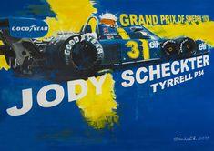 Jody Scheckter Tyrrell p34 poster by Dan Šenkeřík