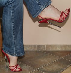 https://flic.kr/p/WdSADw | Extreme High Heels & Jeans pt. III | close-up for my high heels fans :)