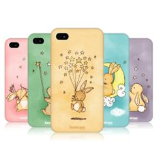 HEAD CASE DESIGNS STARCATCHER BUNNY HARD BACK CASE COVER FOR APPLE iPHONE 4 4S