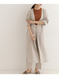 Natural Line, Duster Coat, Autumn Fashion, Korean, Normcore, Japan, Fitness, Summer, Jackets